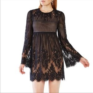 NWT BCBGMAXAZRIA Luann Baby Doll Bell Sleeve Dress